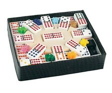 Dominoes Double 12 Professional Size Color Dot White Tile Mexican Train New