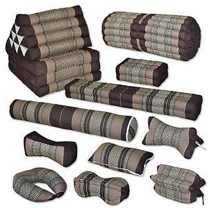 Kissen Matte braun beige Pilates Deko Boden Garten sitzen liegen Couch Thai