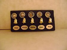 1:24 Half Dollhouse Servant Bells for Kitchen - Door Parlor Dining Bath Bed- #1