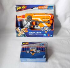 NERF FIRESTRIKE ELITE, N-STRIKE TOY PISTOL WITH LIGHT BEAM + 30 FOAM BULLETS.NEW