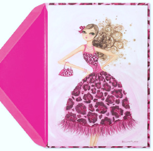 Papyrus Bella Pilar Leopard Dress Friendship Encouragement BCRF Greeting Card