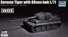 German Tiger With 88mm Kwk L/71 Tank 1:72 Plastic Model Kit TRUMPETER