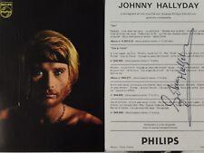 PHOTO DEDICACEE PAR JOHNNY HALLYDAY