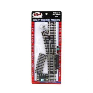 Atlas 540 HO-Scale Code 83 Left-Hand Remote Snap Switch, Nickel Silve,Brown Ties