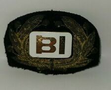 "Vintage BRANIFF Int. 10K GF AIRLINES PILOT CAP HAT BADGE 3"" Bullion Patch Back"