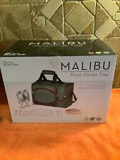 Picnic Time MALIBU PICNIC COOLER TOTE Compartment Food Wine    Accessories NEW
