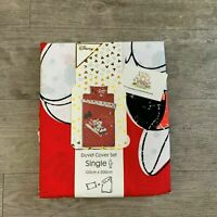 SINGLE DISNEY MICKEY MINNIE MOUSE Duvet Cover Set CHRISTMAS Bedding Primark