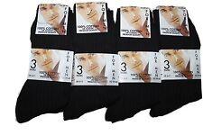 24 pares de calcetines de 100% de algodón para hombre Negro/tamaño de Reino Unido 6-11
