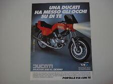 advertising Pubblicità 1983 MOTO DUCATI PANTAH 350 XL DESMO