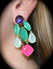 KATE SPADE NEW YORK RIDICULOUSLY GORGEOUS MULTI-COLOR CHANDELIER DROP EARRINGS