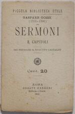 GASPARE GOZZI SERMONI CAPITOLI 1913 PICCOLA BIBLIOTECA UTILE CASTALDO