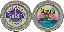 HARRAH'S LAUGHLIN $1 SLOT TOKEN PARROT ON A JET SKI Collector Item CASINO TOKEN