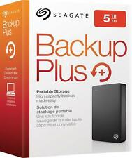 Seagate - Backup Plus 5TB External USB 3.0 Portable Hard Drive - black