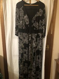 Evans 28 Black Stretch Maxi Dress