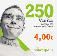 250 BIGLIETTI DA VISITA 300 GR. STAMPA FRONTE A 4 EURO