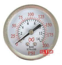 "2.5"" Air Pressure Gauge Center Back Mount 1/4"" NPT 2-1/2"" Dial - 0 to 200 PSI"