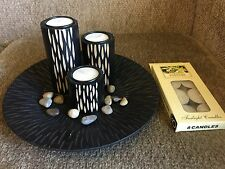 New 13.5cm Tall Wood Candle Holder With Tealight Candle HE15