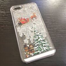 iPhone 6 / 6S - HARD CASE Flowing Waterfall Liquid Glitter Star Christmas Tree