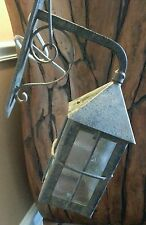 VINTAGE IRON METAL PORCH OUTDOOR WALL LANTERN FROM ENGLAND
