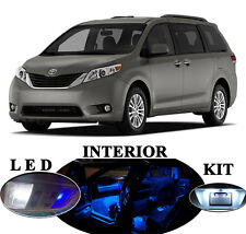 LED Package - Interior + License Plate + Vanity for Toyota Sienna (16 pieces)