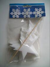 Styrofoam Stars (8 Pack) - Christmas / Winter Craft Decoration Set - New