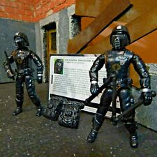 GI JOE ~ two COBRA CRIMSON SHADOW GUARDS ~ 100% complete & file card