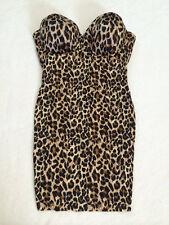 Victoria's Secret Power Figure 36D Cupped Shaping Slip Brown Leopard No Straps