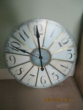 "Huge 2'6"" dia. Garden Clock by Paris"