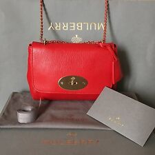 LNIB Mulberry Lily Shoulder Bag in Shiny Goat Bright Red (stickers intact)
