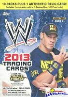 2013 Topps WWE EXCLUSIVE HUGE Factory Sealed 10 Pack Blaster Box-WWE RELIC !