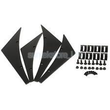 Universal Bumper Lip Canard Splitters Fins Kit for Car Body Spoiler Black
