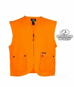 NWT Men's Mossy Oak Blaze Orange Hunting Vest Size S/M