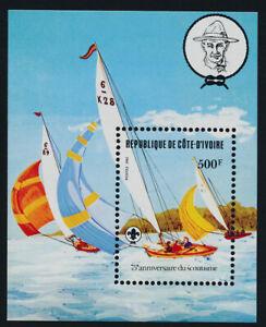 Ivory Coast 635 MNH Yachts, Sailing, Scouts