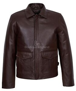 Harrison Ford Indiana Jones Men's Real Leather Brown Film Movie Star Jacket