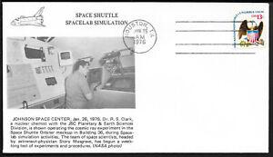 a028 RAUMFAHRT/ USA Space Shuttle-Spacelab Simulation Beleg aus 1976