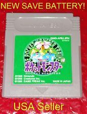 Pokemon Green w/ New Save Battery Pocket Monsters Japanese Version GameBoy