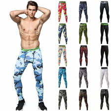Mens Athletic Camo Compression Pants Under Base Layer Basketball Jogger Leggings