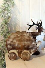 Deko Igel Holz Handarbeit Landhausstil Tischdeko Tierfigur Shabby Chic