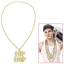 HIP-HOP METALL KETTE # Karneval Rapper Gangster Gold Zuhälter Kostüm Party 75714