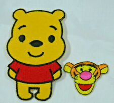 WINNIE THE POOH BEAR + TIGGER  Embroidered Iron Sew On Patch Badge  APPLIQUE