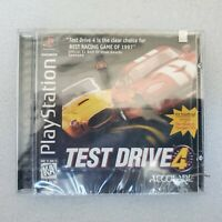 Test Drive 4 1st Print (PlayStation 1 PS1 1997) FACTORY SEALED! - RARE! - EX!