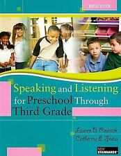Speaking and Listening for Preschool Through Third Grade [With DVD]-ExLibrary