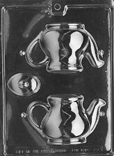 3D Chocolate Teapot Party Mould Set - Tea Cup Saucer Spoon Mold Set