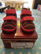 POM D'API UE 20 UK 4 Toddler Chaussures Rose Marron Cuir Entièrement neuf dans sa boîte