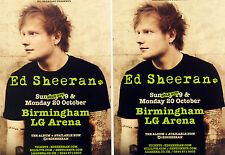 2 X ED SHEERAN 2014 TOUR FLYERS - X ( MULTIPLY ) TOUR