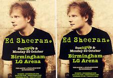 2 X ED SHEERAN 2014 TOUR FLYERS - X ( MULTIPLY ) TOUR