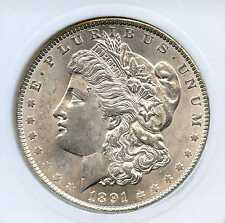 1891 $1 Morgan Silver Dollar. Uncirculated  MS +++++. Lot #389