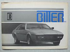 Prospekt Bitter SC 3,0 l, ca.1981, 4 Seiten