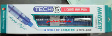 Hauser Germany Tech 5 liquid ink jell pen refillable needle tip smooth  pen