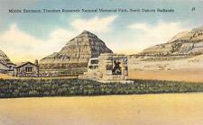 ND, North Dakota    BADLANDS-ROOSEVELT NATIONAL PARK Entrance   c1940's Postcard